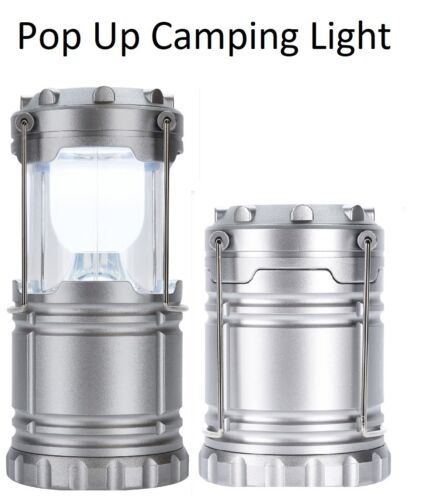 Led Battery Operated Light Lantern With Holding Hooks Pop Up Camping Lantern