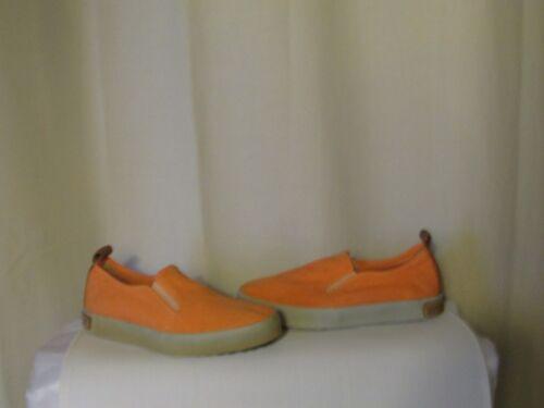 Blackstone camel de 36 albaricoque lona y talla naranja cuero Zapatos qCaxE0pqw