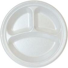 White Foam 3 Section Plate Case of 500-4 Case of 125 CPC B9FPC 9 in