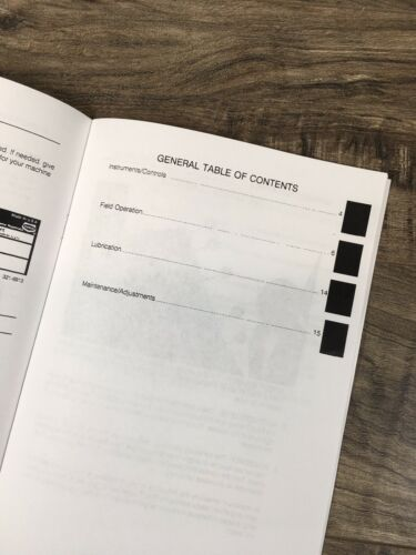 CASE 1640 1660 1680 COMBINE FIELD TRACKER OPERATORS MANUAL OWNERS BOOK MAINTAIN