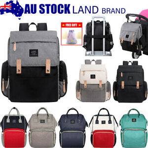 GENUINE-LAND-Multifunctional-Baby-Diaper-Backpack-Changing-Bag-Nappy-Mummy-AU