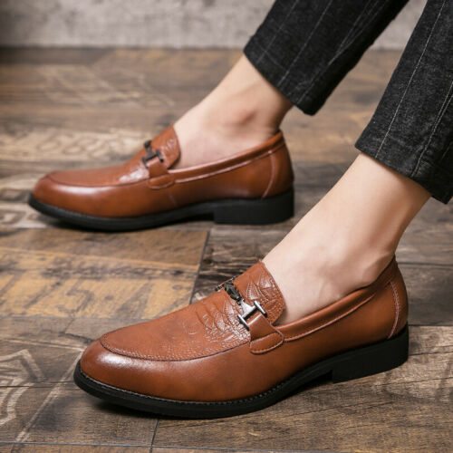 Details about  /Men/'s Low Top Leisure Faux Leather Shoes Pointy Toe Oxfords Slip on Nightclub L