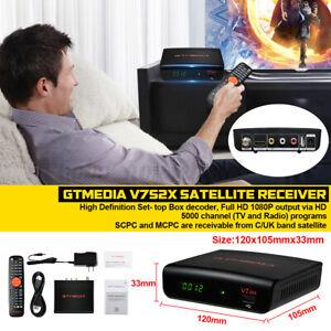 Gtmedia V7 S2X Smart satélite receptor decodificador HEVC H.264 1080 HD Tv +