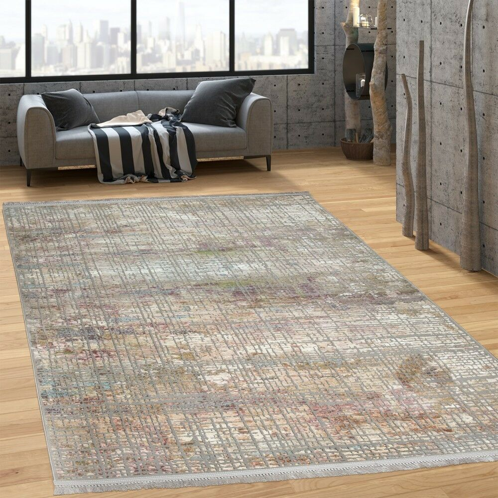 Designer alfombra oriental aspecto vintage trazos brevemente flor en trazos vintage pastel tonos multicolor 3ce205