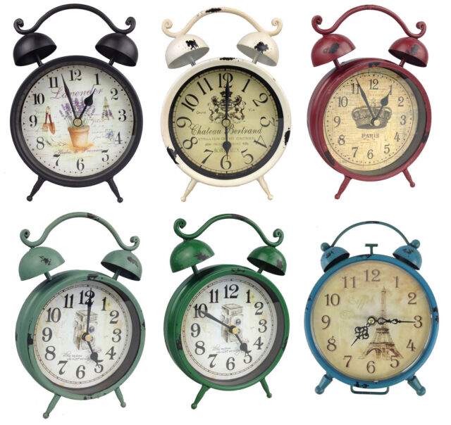 Reloj en Despertador Diseño de Mesa Nostalgia Antiguo Vintage Retro Dekowecker