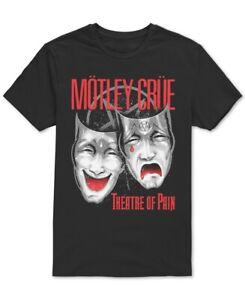 Global-Mens-T-Shirt-Black-Red-Size-Large-L-Motley-Crue-Graphic-Tee-Crewneck-112