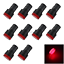 10x Red Pilot Lamp Indicator Light AD16-22D//S 12V-24V /<20mA LED Z2918