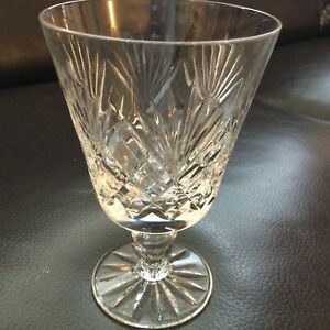 Royal Doulton Crystal Juno Water Smaller Wine Goblet Signed Lovely