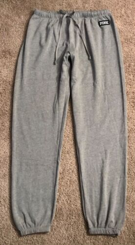NWOT VICTORIA/'S SECRET S M L HEATHER  GRAY LIGHTWEIGHT CLASSIC PANT SWEATPANTS