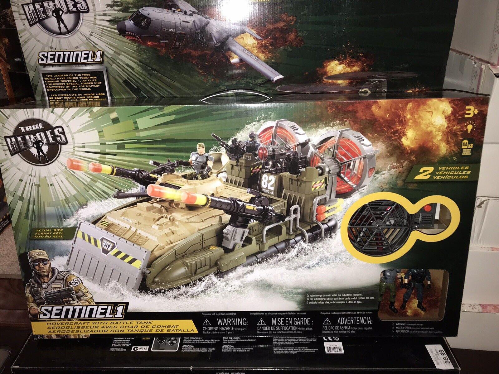 True Heroes-Hover Craft con tanque de batalla-JuguetesRUs Exclusivo Nuevo enorme