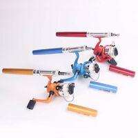 Pen Pocket Fishing Rod And Reel Line Combos Travel Portable Fishing Tackle Sets