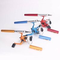 Portable Pocket Pen Fishing Rod Spinning Pen Fishing Pole With Reel Line Combos