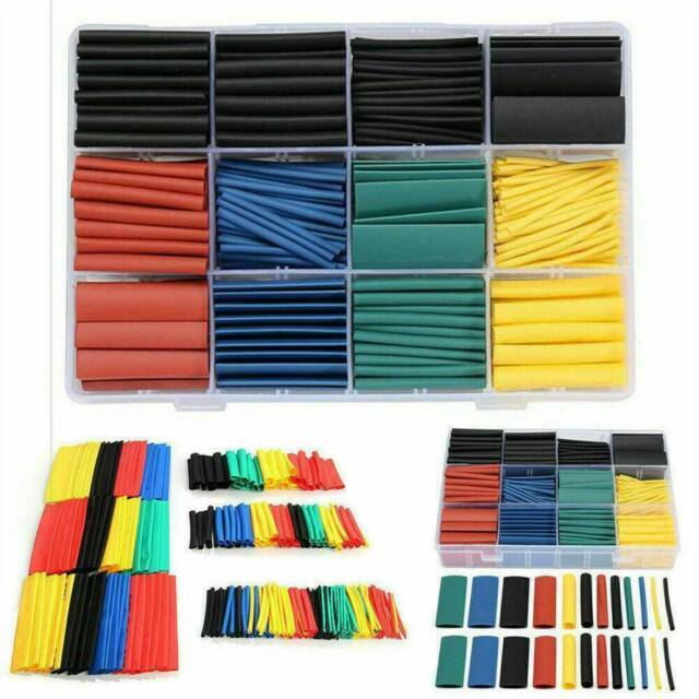 530x Assortment Set 2:1 Heat Shrink Wire Wrap Tubing Electrical Connection Cable