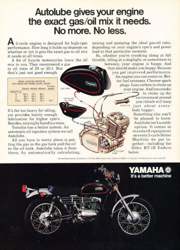1971 Yamaha RT-1B Enduro Motorcycle Classic Vintage Advertisement Ad D146