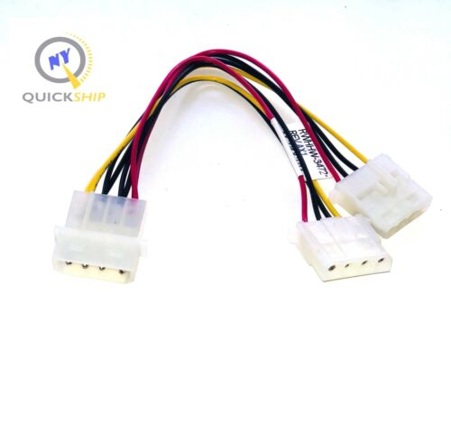 """7/""""in 4-pin Molex Male to 2x Female Power Y-Splitter Cable 20 LOT Twenty"""