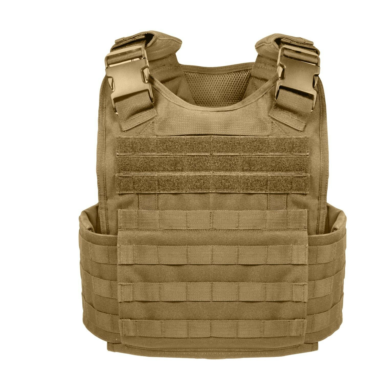 Coyote Brown Military MOLLE Tactical Plate Carrier Assault Vest redhco 8923