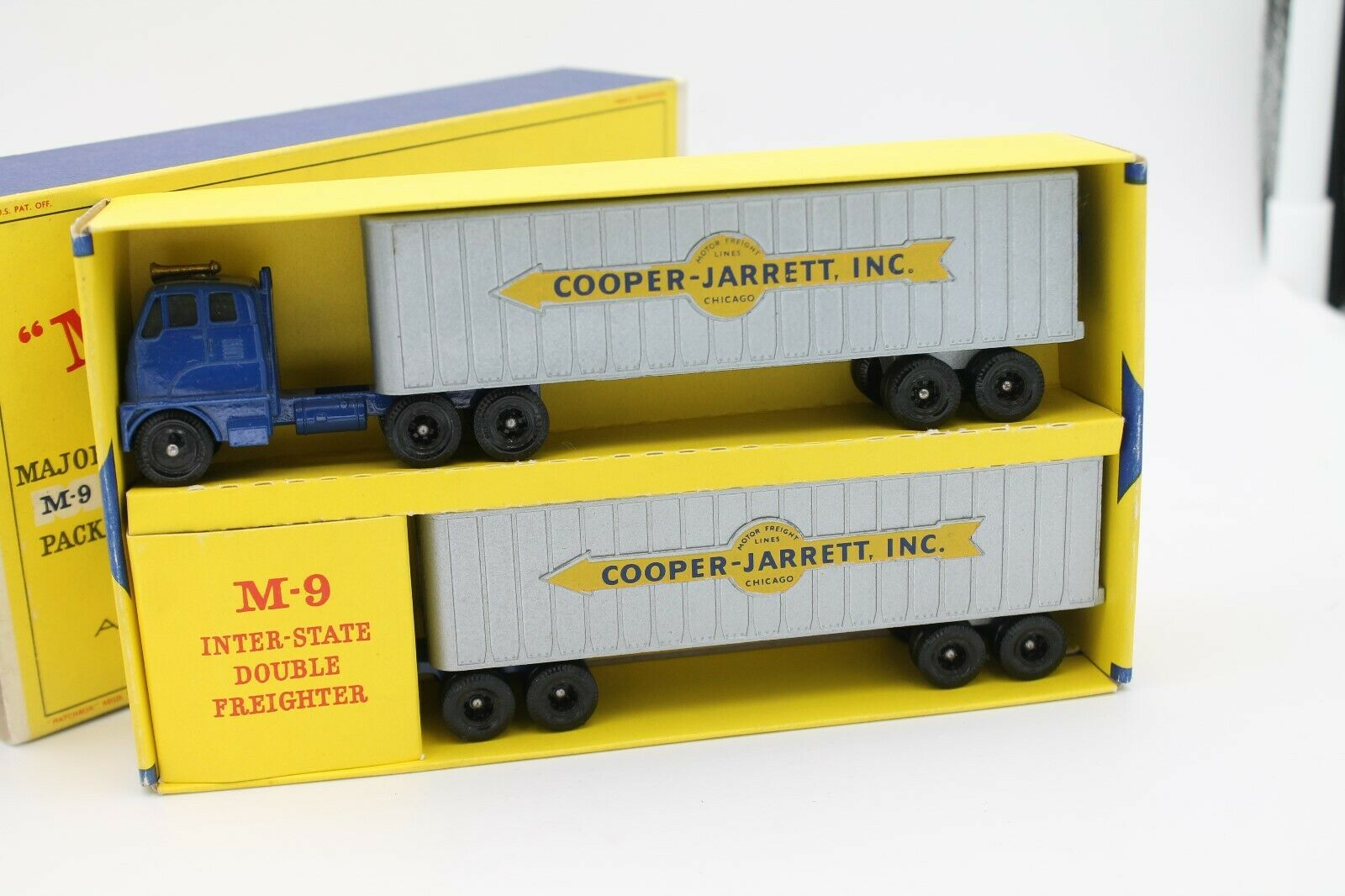 MATCHBOX SERIES M-9  INTER-STATE DOUBLE FREIGHTER  COOPER-JARRETT  OVP