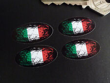 ITALY Flag Fade to Black Oval Car Motorcycle Stickers 30mm Set of 4 ITALIAN Bike