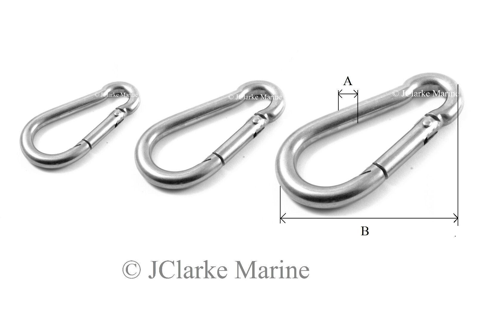 Eye Marine Karabina 7MM Stainless Steel Carbine Hook With Eyelet