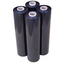 6 Strong Rolls Black Pallet Stretch Shrink Wrap Parcel Packing Cling Film Fast