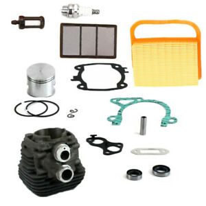 Aire-Filtro-Combustible-Cilindro-Piston-Set-Bujia-Juego-para-Stihl-TS410-TS420