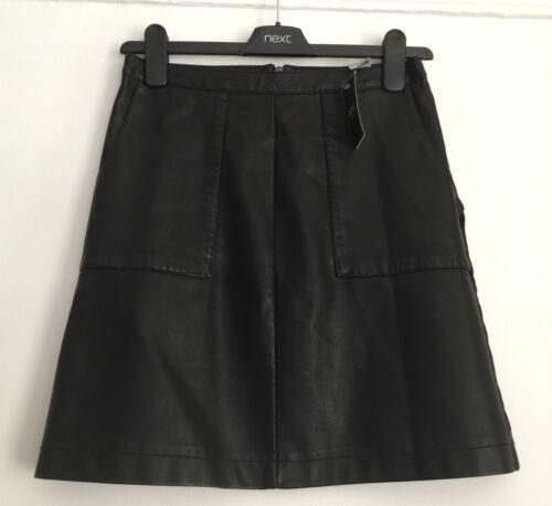 NEXT Black PU Mini Skirt Sizes 6// 8