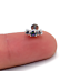 TRI-OPAL-GEM-Helix-Cartilage-Conch-Earring-Labret-Bar-Stud-Lip-Tragus-Flat-back thumbnail 3