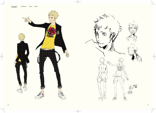 Persona 5 Official Design Works Book Art Book From Japan