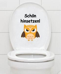 BAD WC BADEZIMMER TOILETTEN Schön hinsetzen Wandtattoo Tattoo Aufkleber Sticker