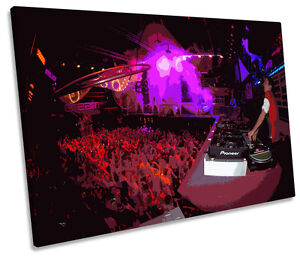 DJ Eddie Halliwell Ibiza Amnesia SINGLE CANVAS WALL ART Box Framed