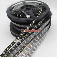 5M 300/600LED 120led/M Double single 5050 RGBW RGB WW Flex LED light Black PCB