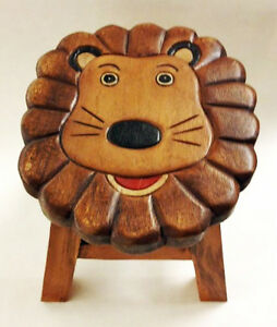 Strange Details About Footstools Childrens Lion Wooden Footstool Lion Foot Stool Beatyapartments Chair Design Images Beatyapartmentscom