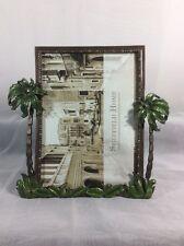 "Sheffield Home Picture Frame 7"" X 5"" Rhinestone Jeweled Enamel Metal Palm Trees"