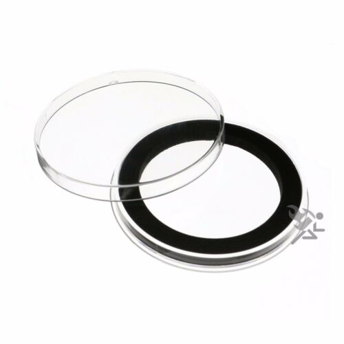 """Air-Tite Brand Y50.8mm Black Ring Capsule Holders 2/"""" Challenge Coins Qty 10"""