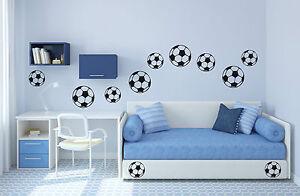 14 fu b lle fu ball sport kinderzimmer jungen aufkleber wandaufkleber wandtattoo ebay. Black Bedroom Furniture Sets. Home Design Ideas