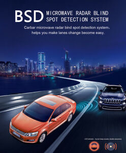vehicle car blind spot detection system bsd microwave radar sensor chang lane le ebay. Black Bedroom Furniture Sets. Home Design Ideas