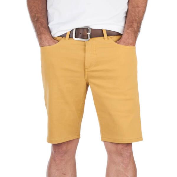 100% Verdadero Superslick Amarillo Corto De Los Hombres Slimfit Con Stretch Pantalón Pantalones
