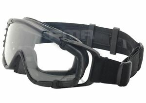AIRSOFT-PAINTBALL-OPS-CORE-JUMP-FAN-ANTI-FOG-CLEAR-SI-GOGGLES-GLASSES-BLACK-SWAT