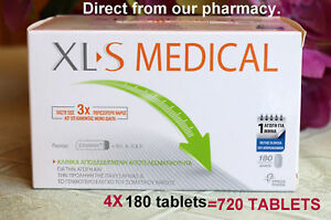 Details About Xls Medical Fat Binder Weight Loss Aid 4x180 Tablets For 4 Months