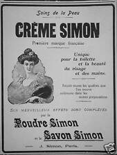 PUBLICITÉ CRÈME SIMON POUDRE ET SAVON SOINS DE LA PEAU