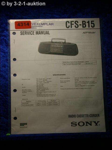 Sony Service Manual Cfs B15 Cassette Corder   4314