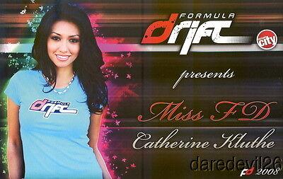 2008 Catherine Kluthe Miss Formula Drift postcard