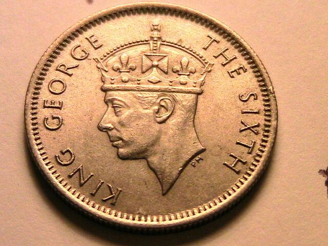 1950 Malaya Lustrous Ch AU 10 Cents SILVER British Asia Empire George VI Ar Coin