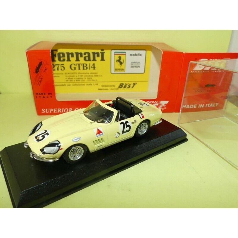 sin mínimo Ferrari 275 gtb 4 Sebring 1967 Best 9127 9127 9127 1 43  alto descuento