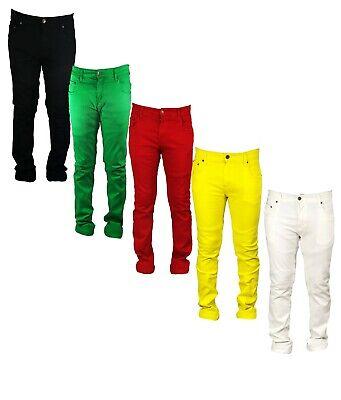 Fornitura Georgio Peviani Vice Jeans Da Uomo Rosso Giallo Verde Gamba Dritta Vestibilità Normale Parigi-