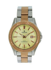 Croton CN307177TTRG Men's Round Analog Champagne & Rose Gold Tone Date Watch
