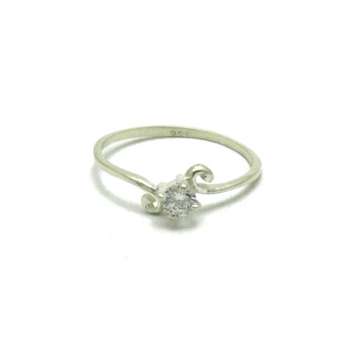 STYLISH STERLING SILVER RING SOLID 925 WITH 4mm CZ R000520 EMPRESS