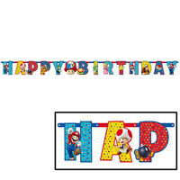 Super Mario Birthday Banner Jumbo Add An Age Party Favors Supplies