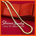 14K YELLOW GOLD GF N44 SNAKE CHAIN for pendant WOMENS LADIES SOLID NECKLACE 45CM