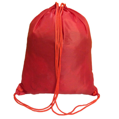 School College Gym Sport Bag PE Dance Drawstring Sack Shoe Trainer Pump Backpack